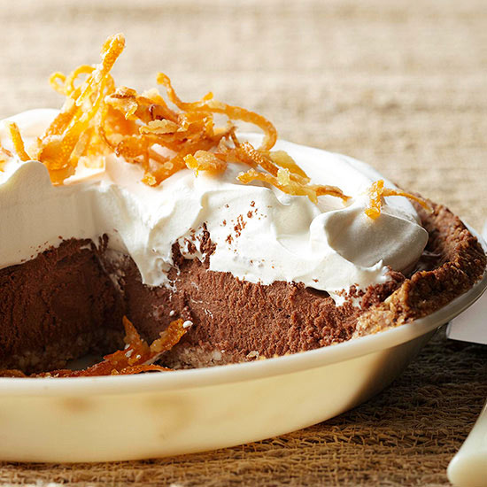 Orange-Hazelnut French Silk Pie