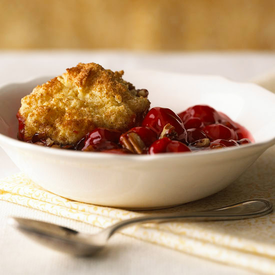 Polenta-Topped Cherry Cobbler