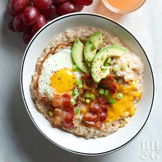 Pressure Cooker Bacon and Eggs Breakfast Bowl