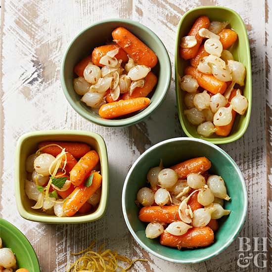 Pressure Cooker Braised Carrots and Onions