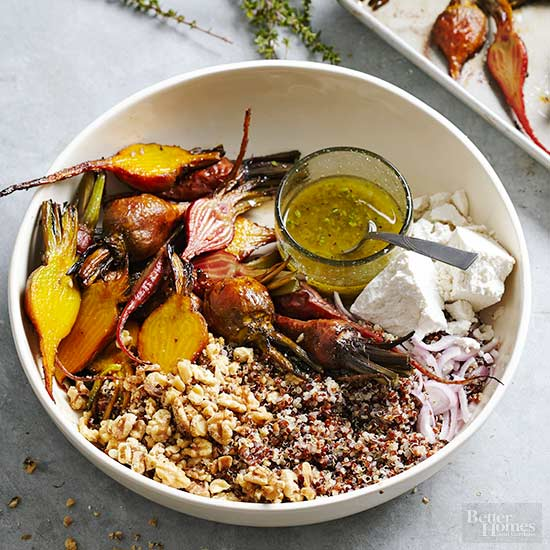 Quinoa with Roasted Beets and Thyme Vinaigrette