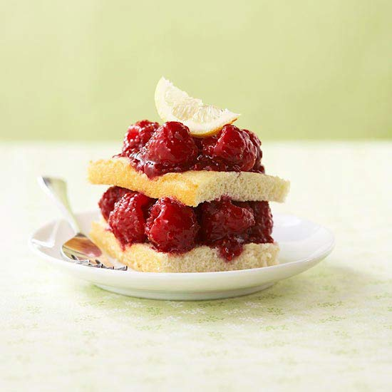 Raspberry-Lemonade Shortcakes