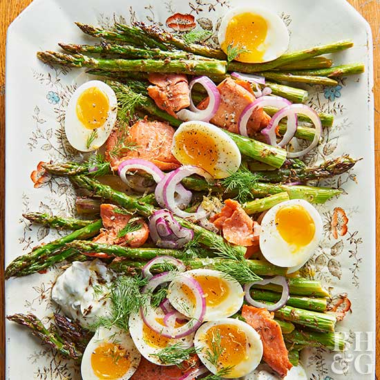 Roasted Asparagus & Salmon
