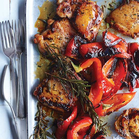 Rosemary Chicken with Sweet Peppers