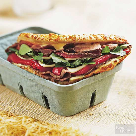 Roast Beef and Red Pepper Sandwiches