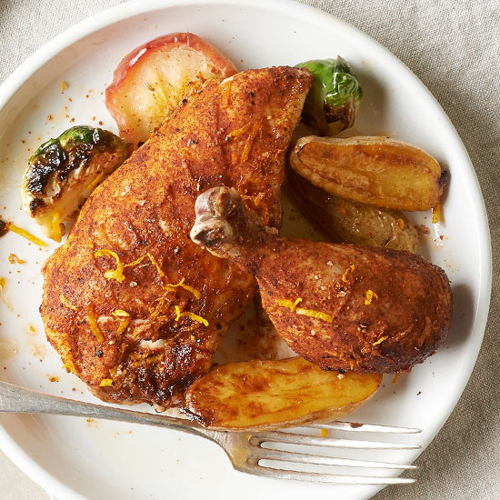 Smoky Chicken with Fingerling Potatoes