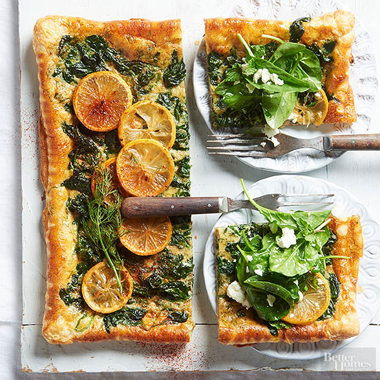 Spinach & Feta Tart Recipe by Martha Holmberg