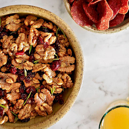 Toasted Walnuts with Tart Cherries and Rosemary