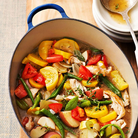 Vegetable Garden Soup with Turkey