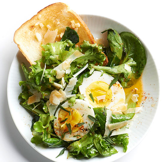 Wilted Greens and Eggs