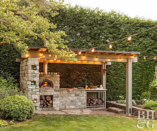 outdoor oven home tour