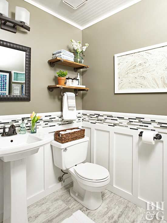 You Won't Believe These Done-in-a-Weekend Bathroom Refreshes on blue fireplace designs, black and white tile floor designs, blue fence designs, blue desk designs, blue floor designs, blue bar design, blue solar designs, blue home designs, blue cooking designs, mosaic bathtub designs, blue glass designs, blue computer designs, blue color, blue painting designs, blue waueles, blue snow designs, blue porch designs, cool blue designs, blue counter designs, blue bedroom,