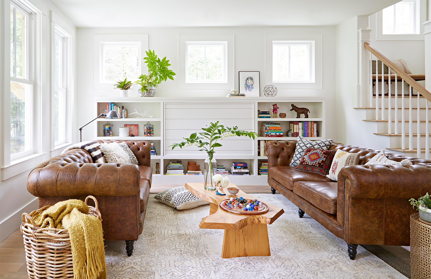 brown leather couches arcese living room