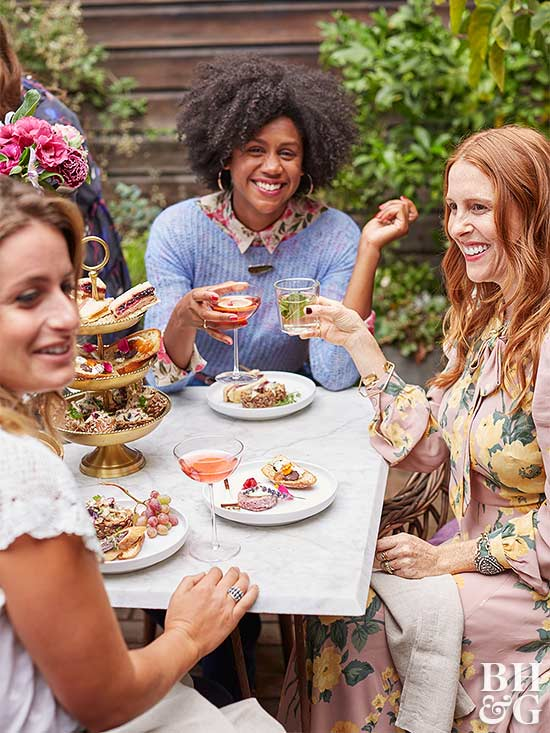 garden party with women