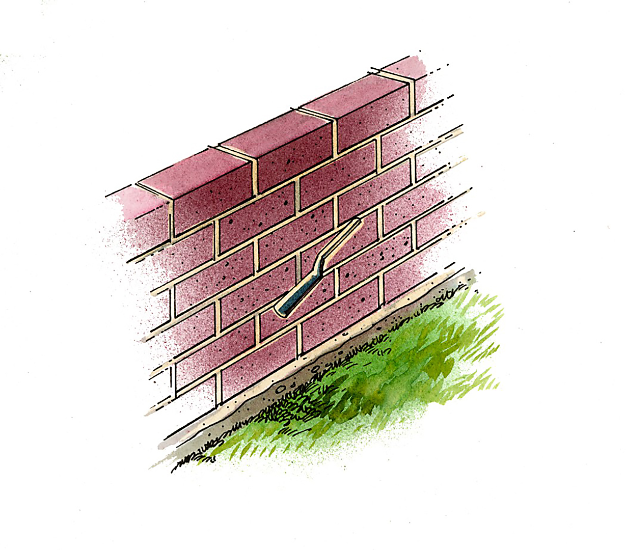stack illustration brick raised flower bed