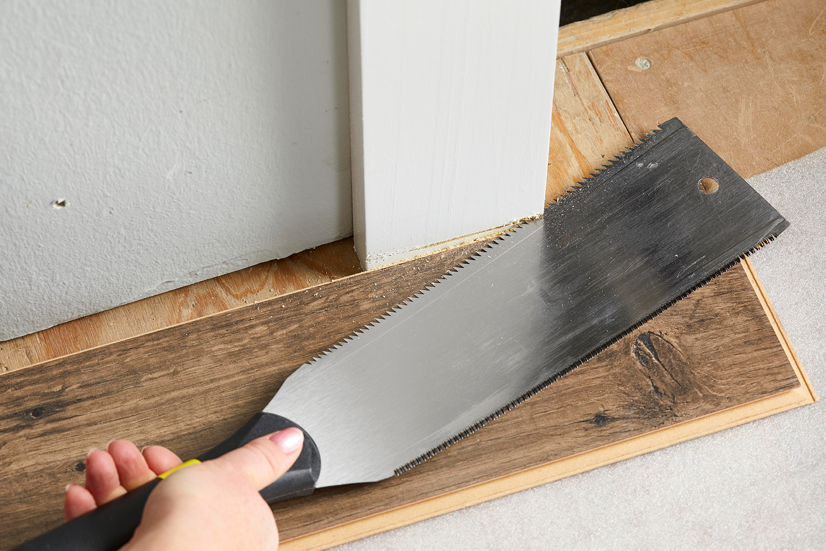 rectangle knife cutting molding wood floor
