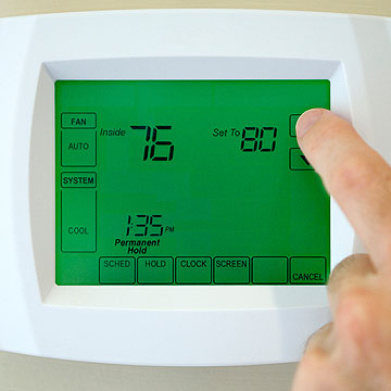 programing thermostat