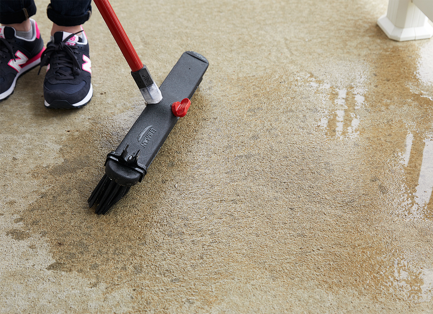 prep steps with a concrete cleaner, degreaser, and etcher