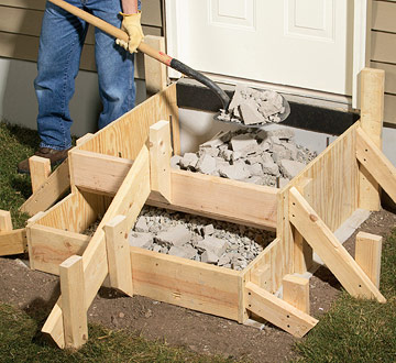 How To Pour Concrete Steps Better Homes Gardens