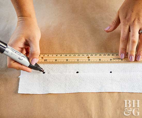 measuring and marking seed placement