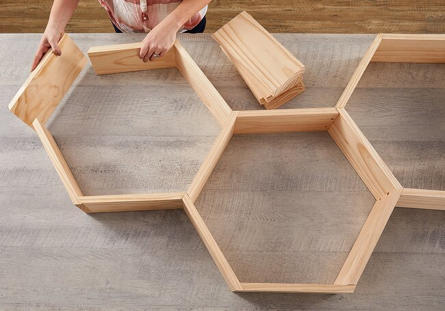 laying out boards in hexagon pattern