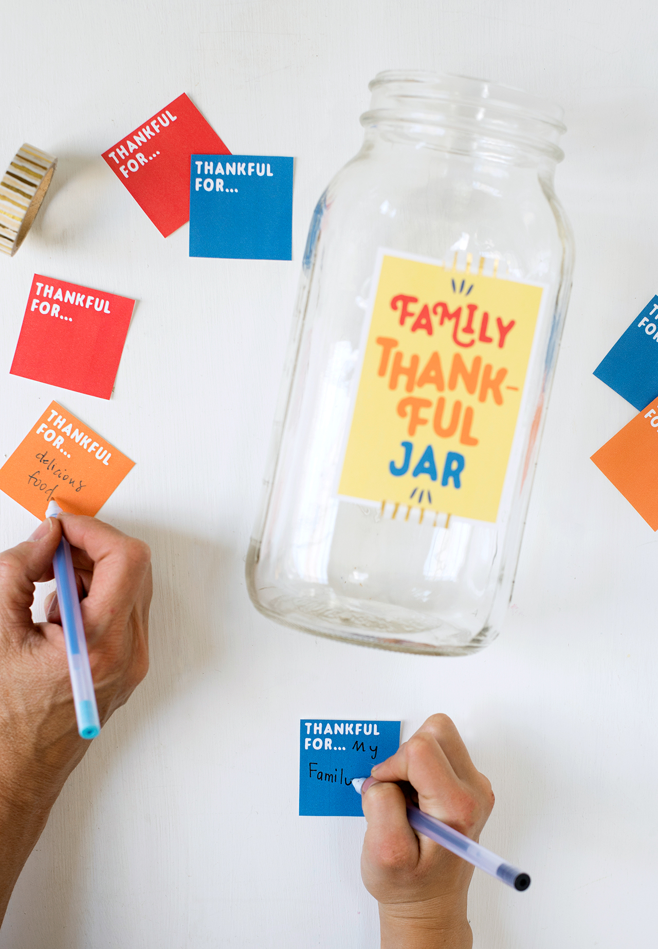 Thankful Jar Free Printable Better Homes Gardens