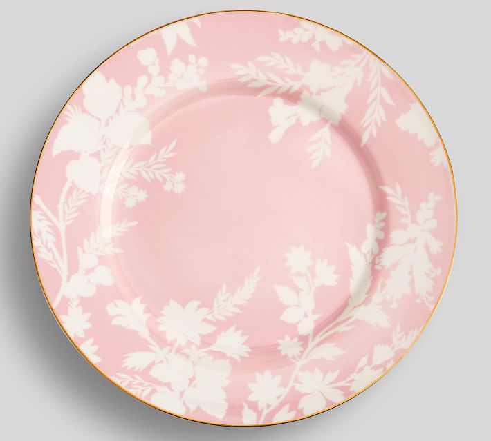 rose and gold plate