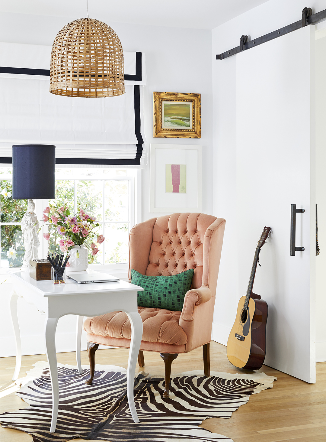 wing chair in sitting area