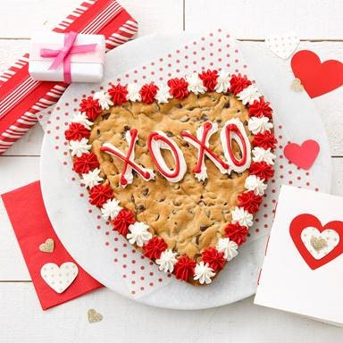 Heart shaped cookie with red frosting, Delivery for Valentine's Day