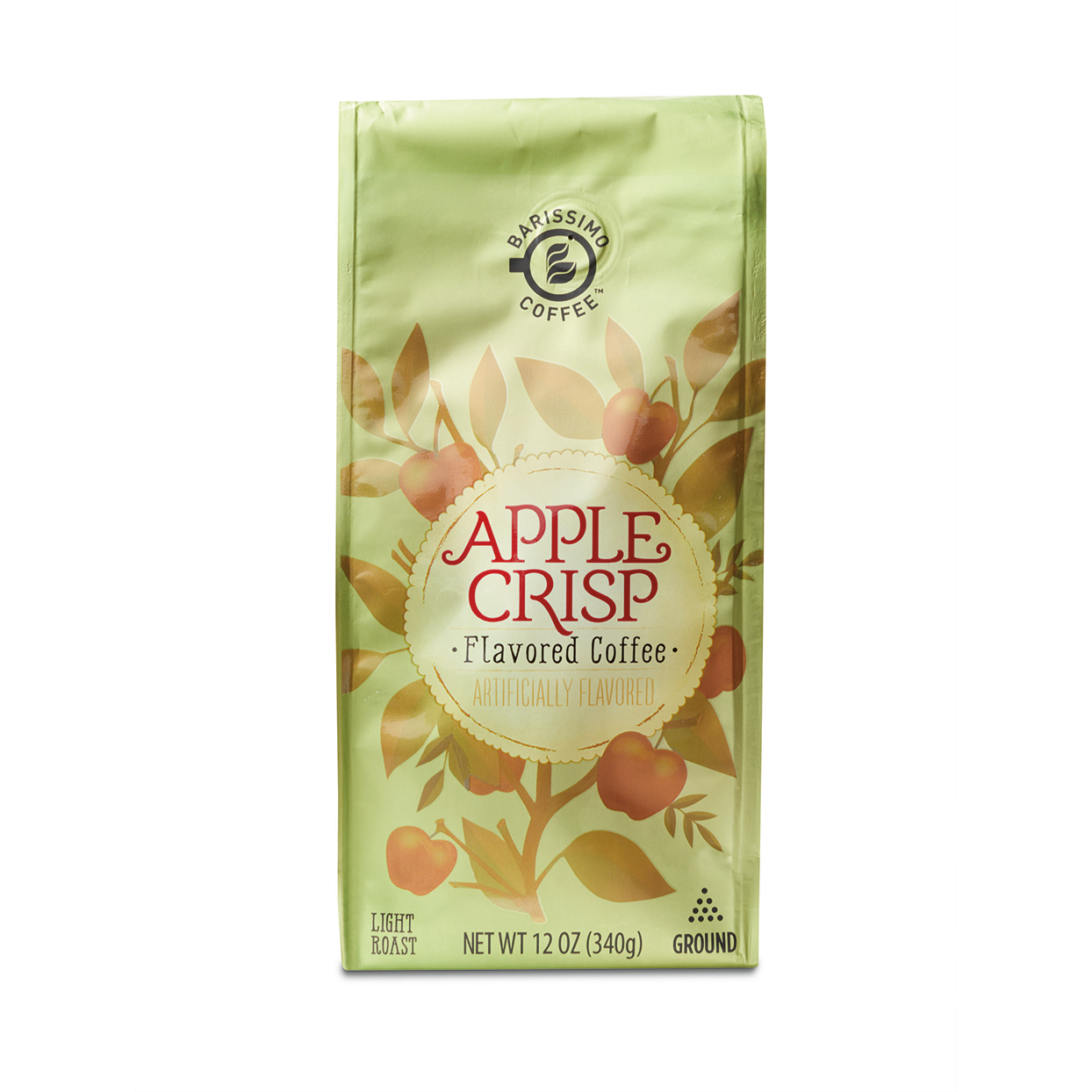 Apple Crisp ground coffee packaging