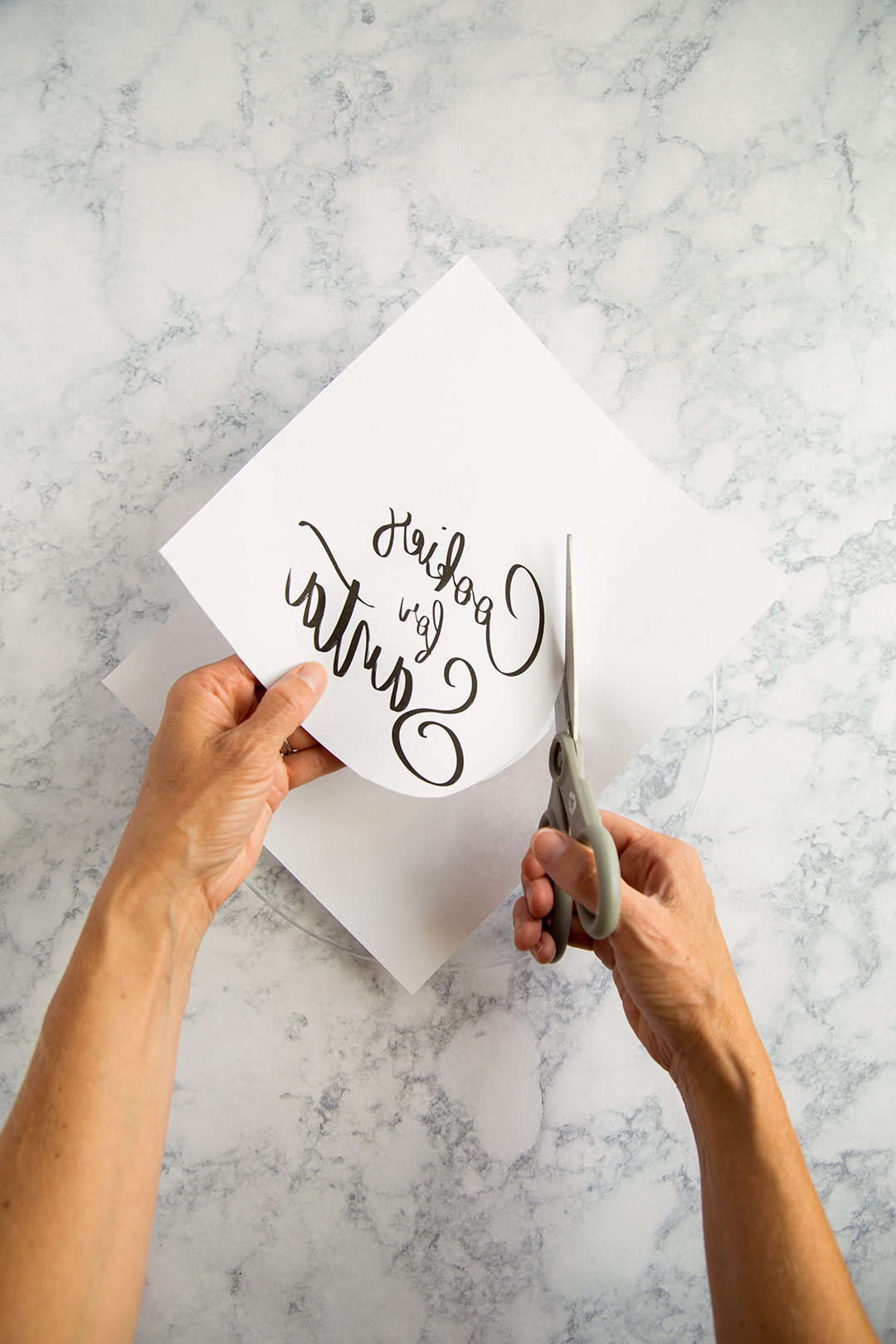 scissors used to cut out text