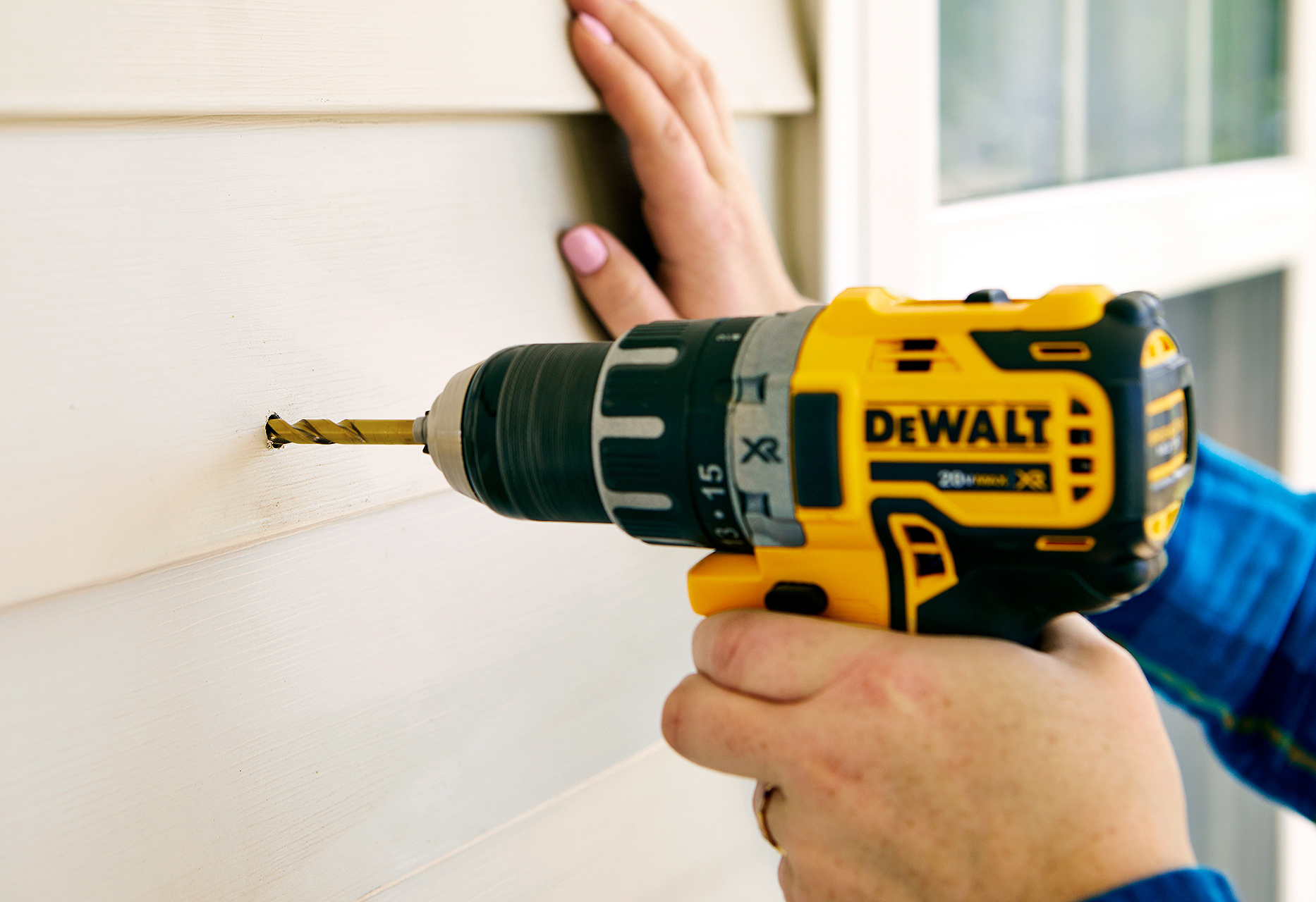 add pre-drilled holes to siding for placement