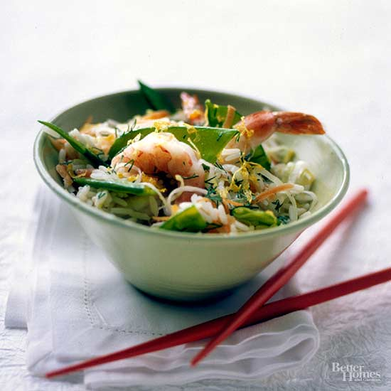 Dilled Shrimp with Rice