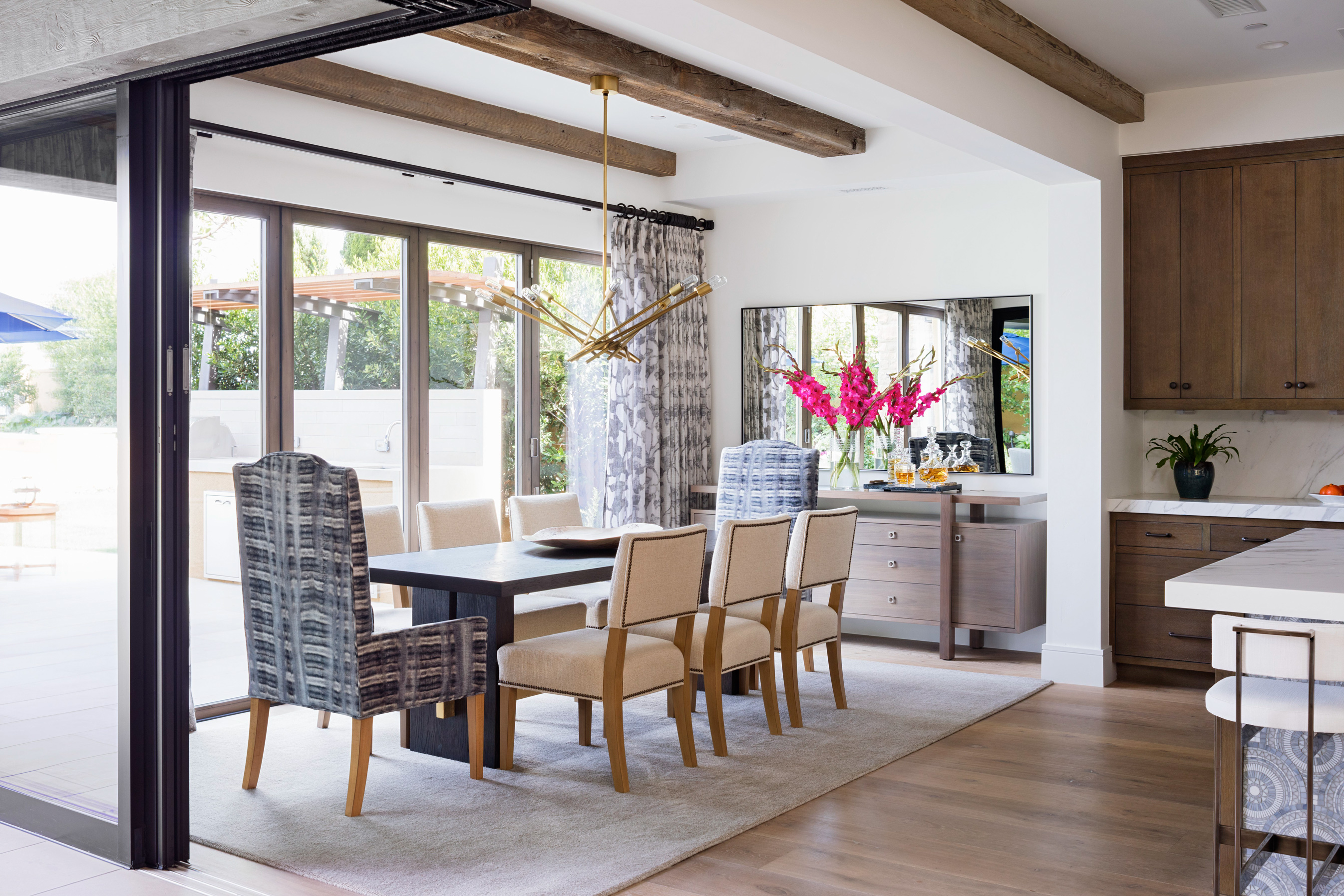 beachy home makeover dining room open windows
