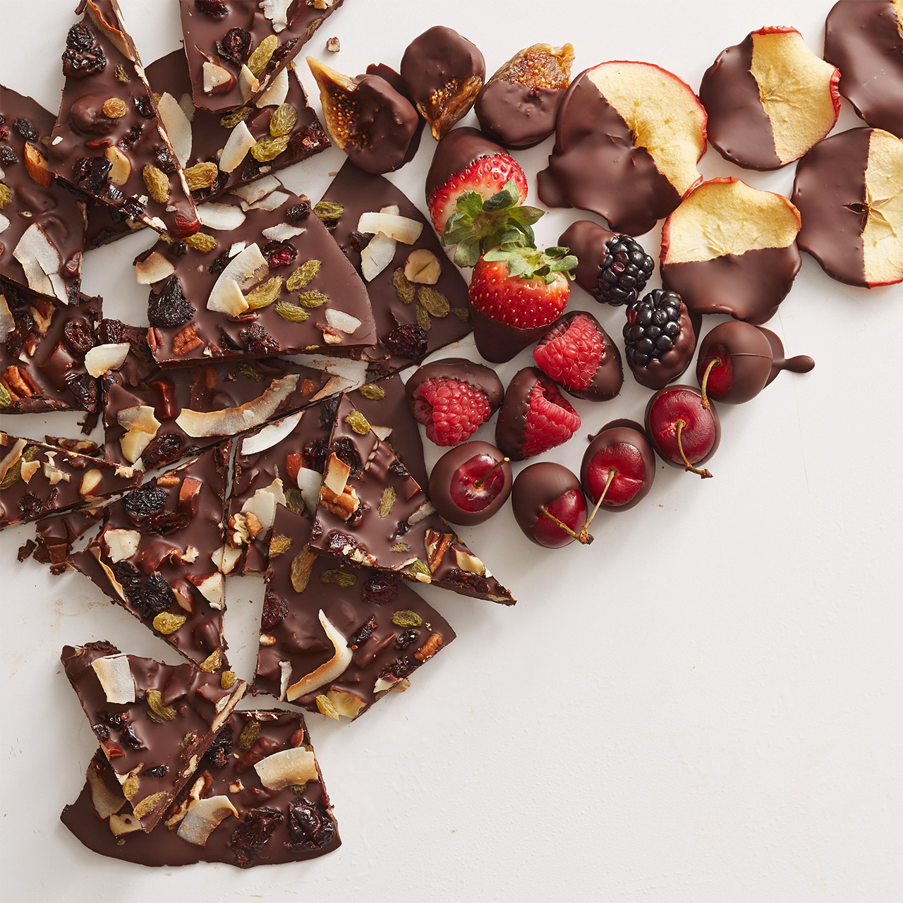Chocolate Bark and Dipped Fruit