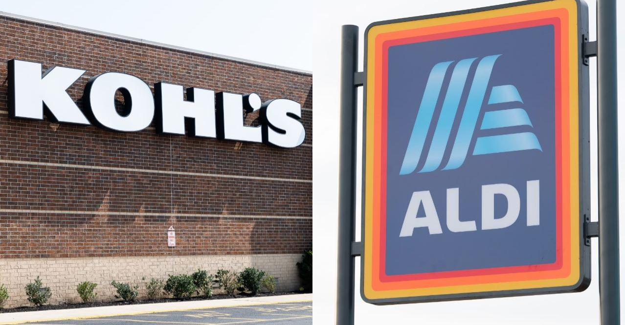 Kohl's department store and Aldi grocery store signs