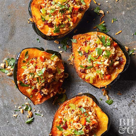 Bulgur-Stuffed Acorn Squash