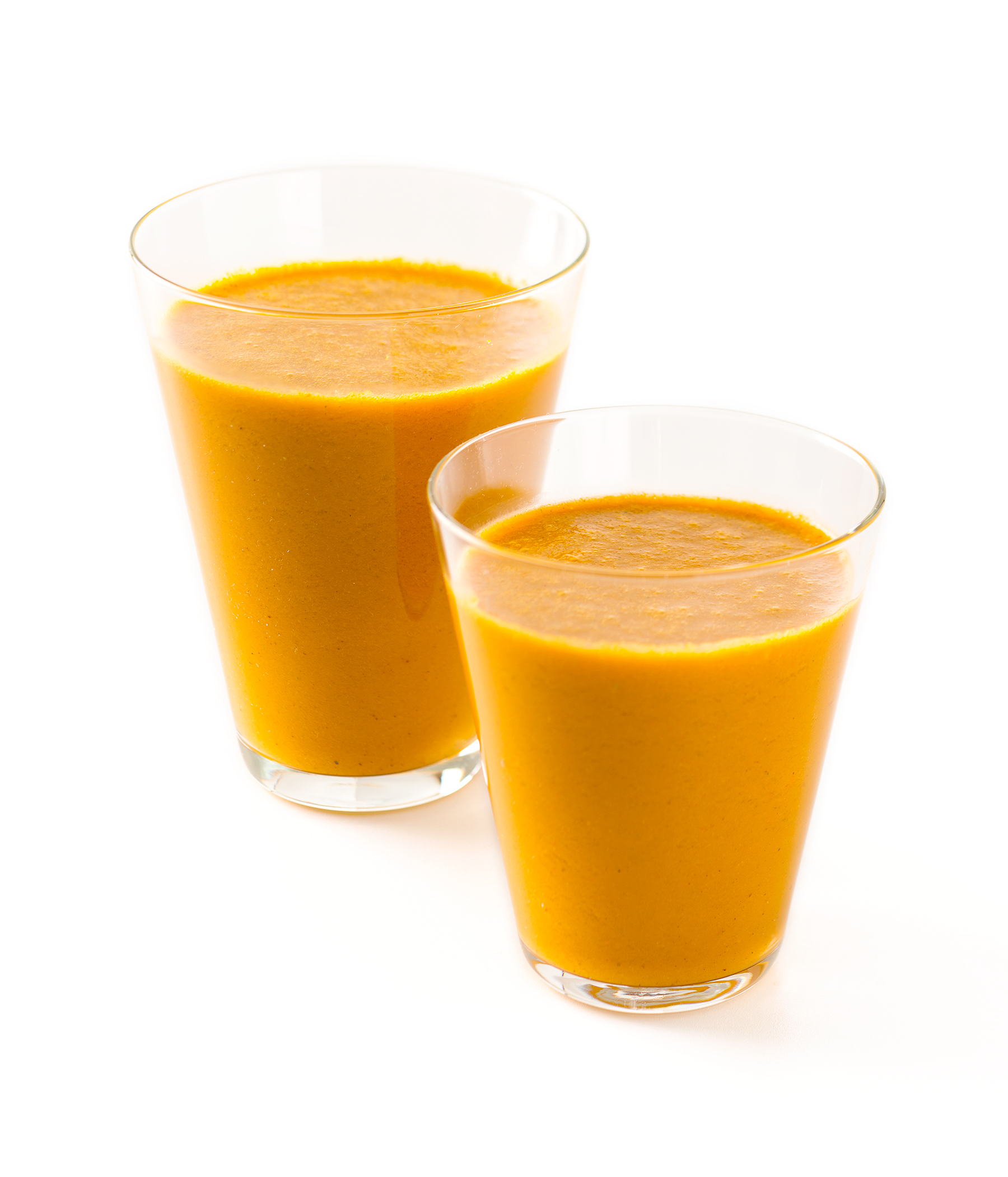 Two Carrot-Orange Smoothies