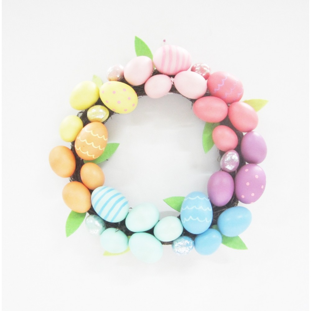 easter egg colorful wreath