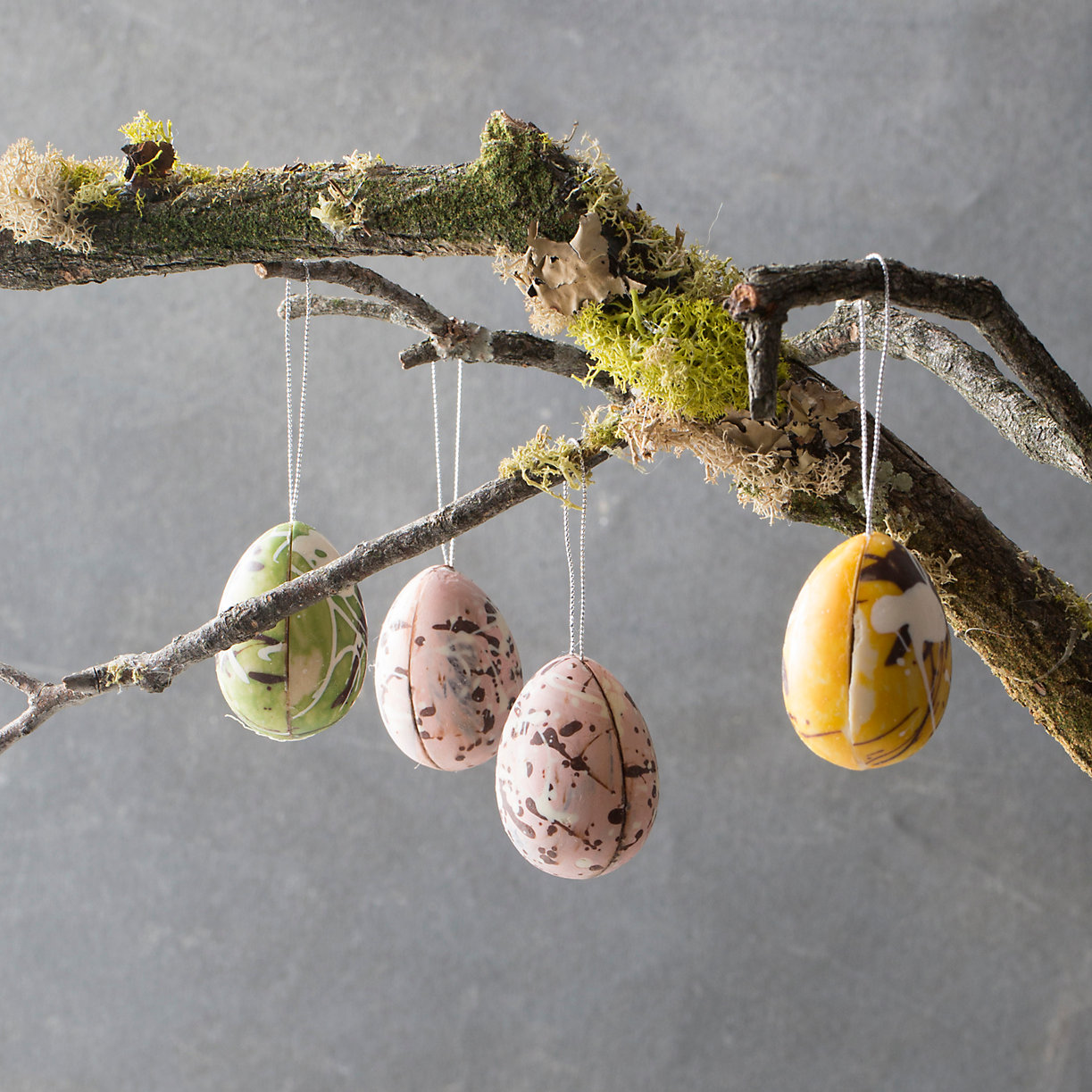 marbled chocolate egg ornament