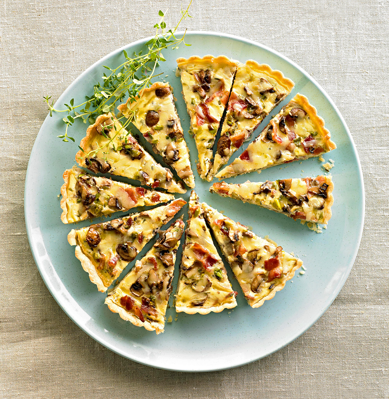 Bacon-Mushroom Quiche with Gruyère and Thyme