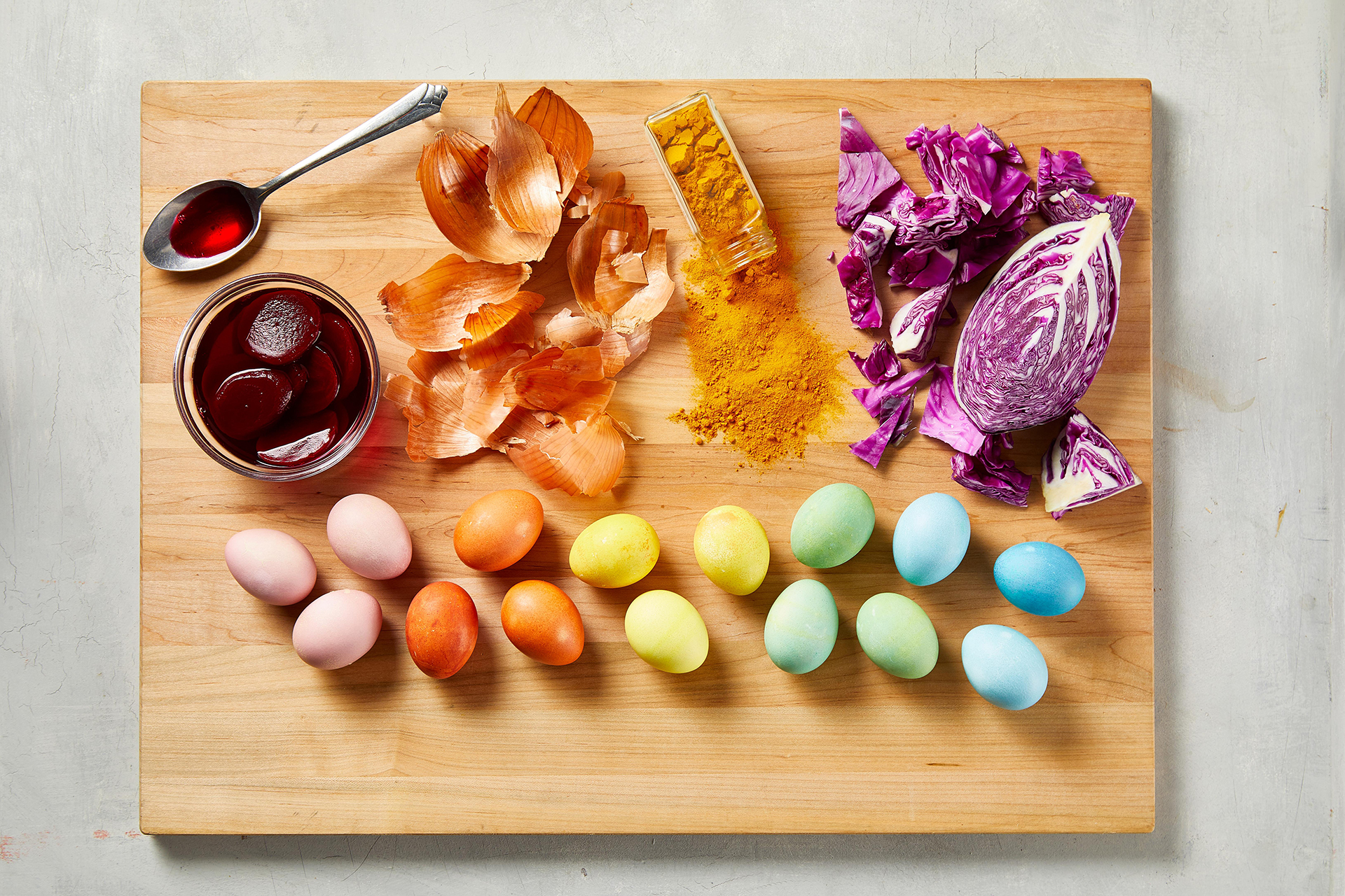 using natural dyes for easter egg decorating