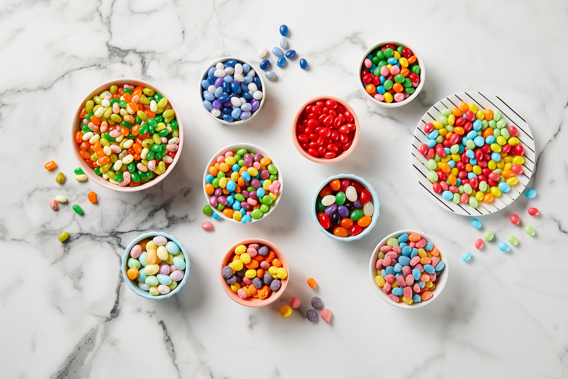 bowls of assorted easter jelly beans