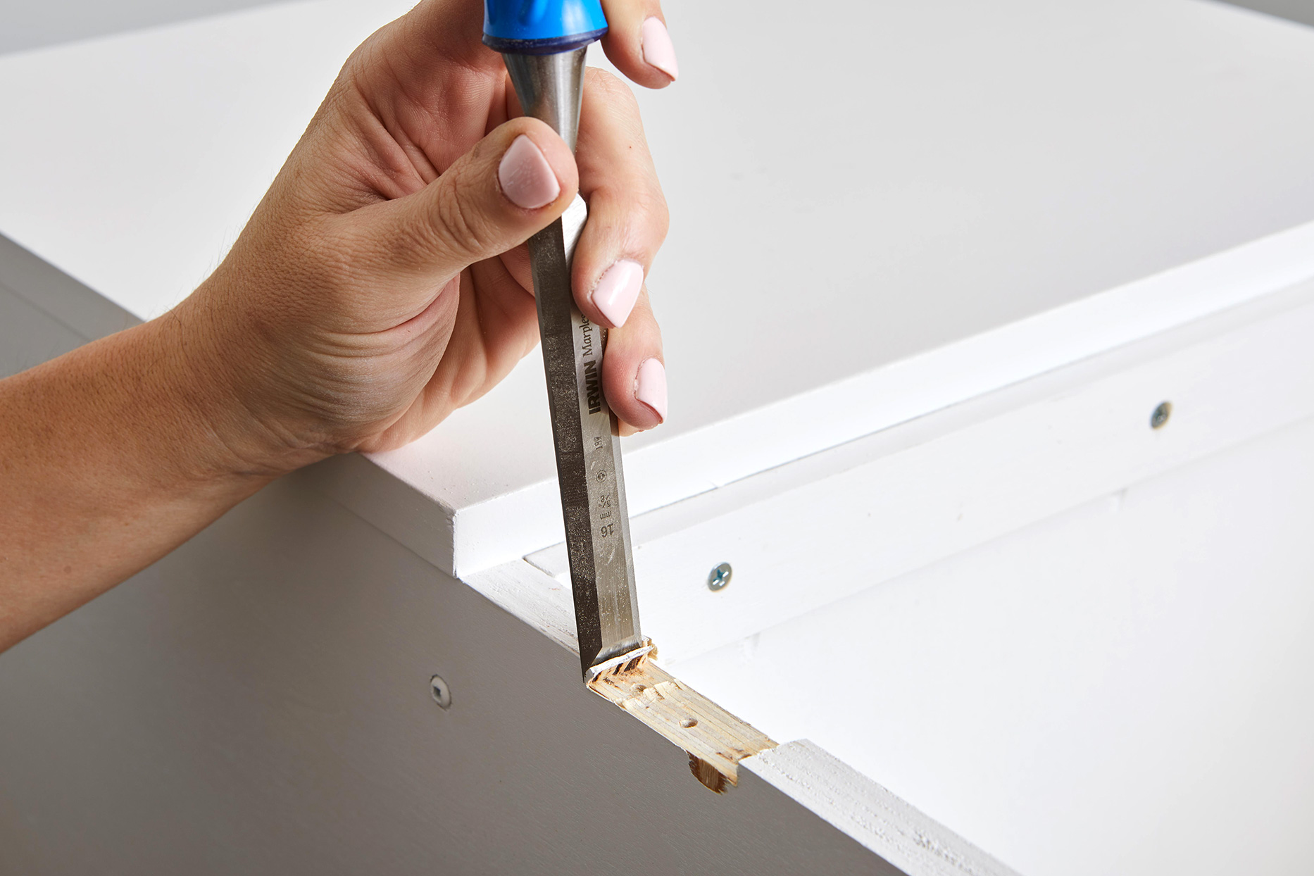 carving space for board in white surface