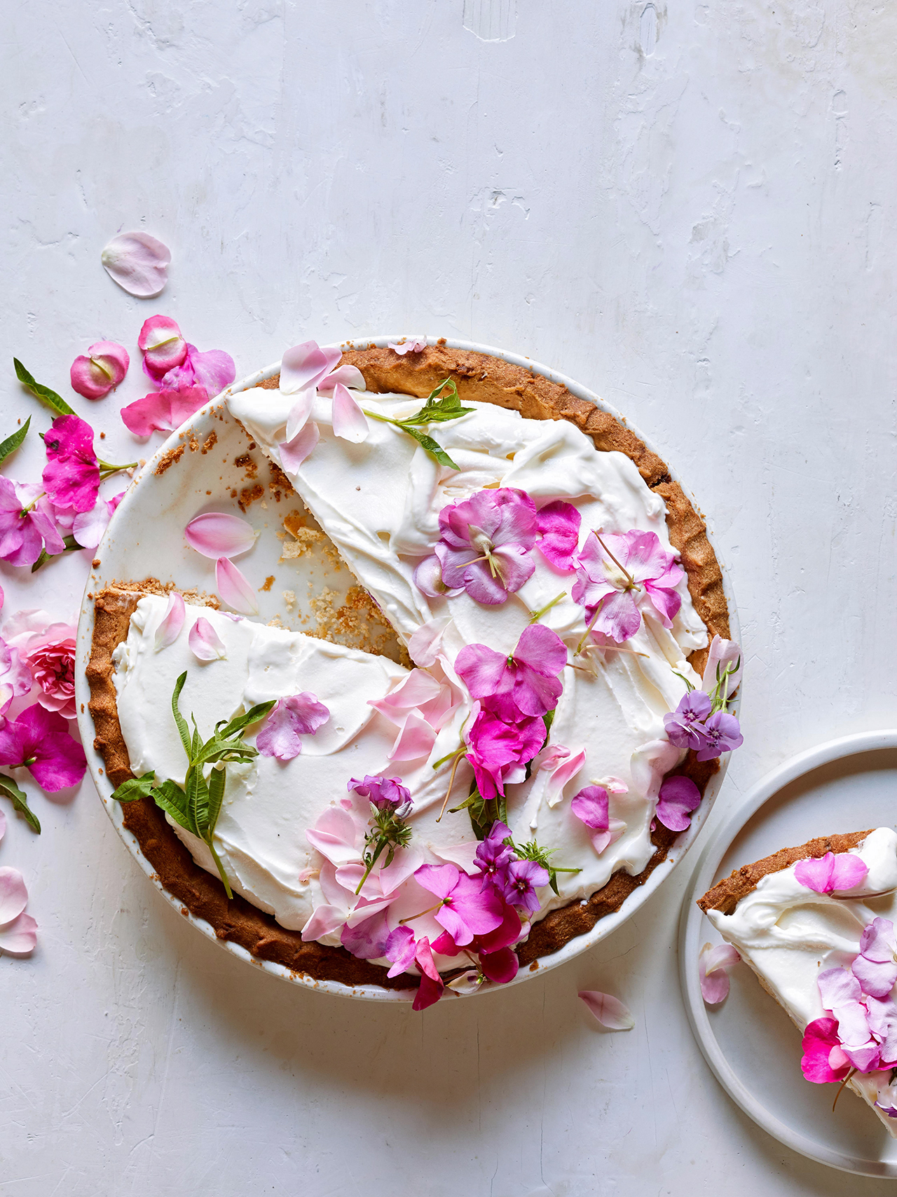 Garden Party Dessert: Lemon Verbena Ice Cream Pie