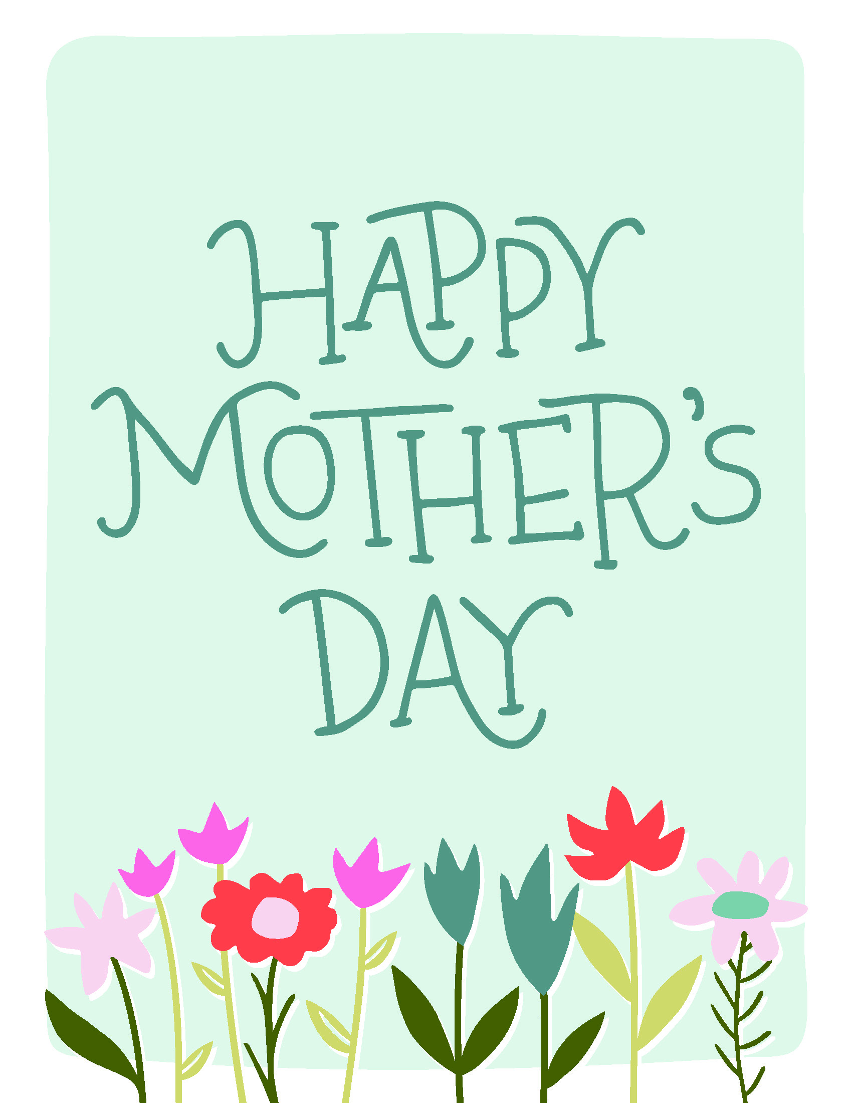 happy mothers day floral print