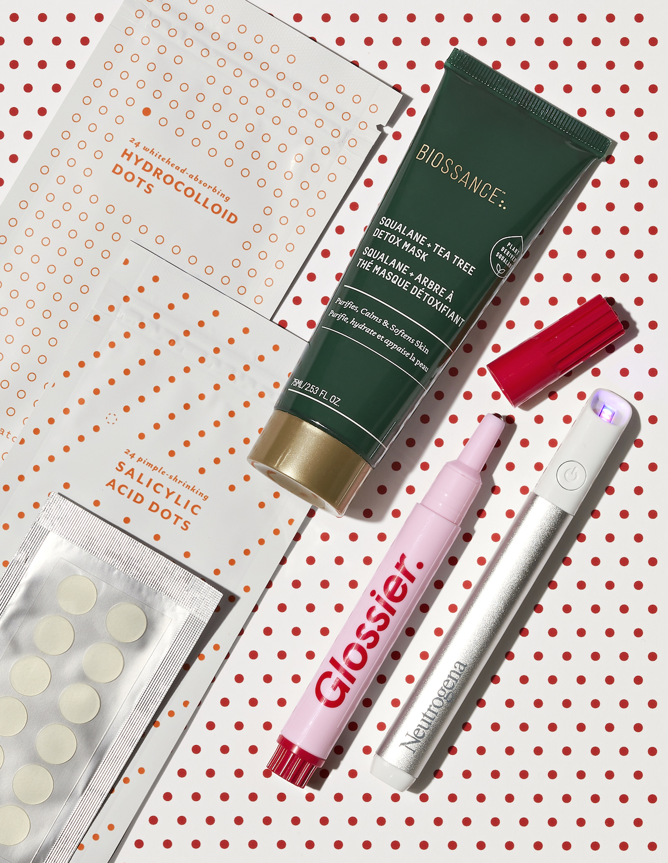 Acne spot treatment products