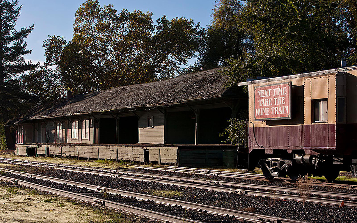 An old train station in napa valley