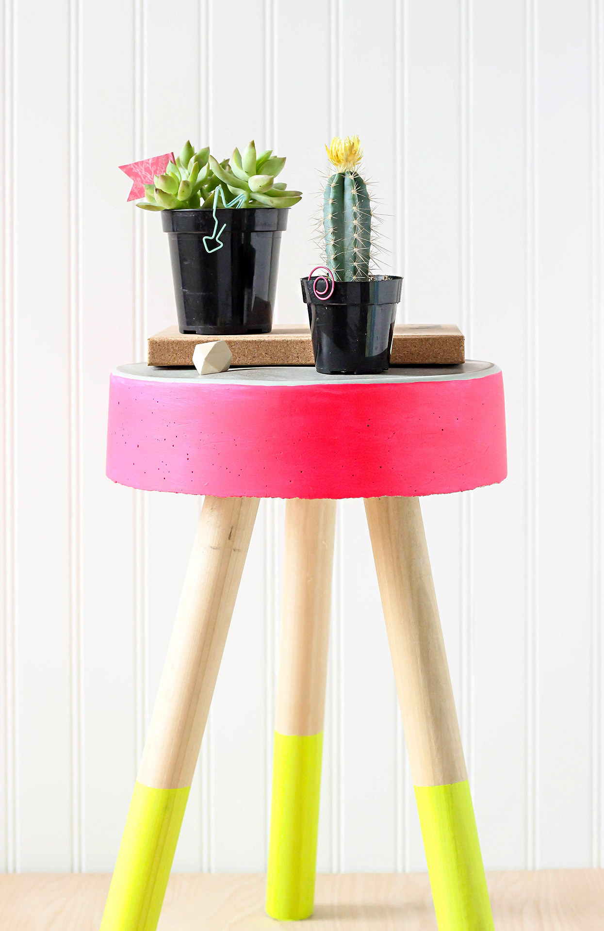 Colorful Concrete Stool