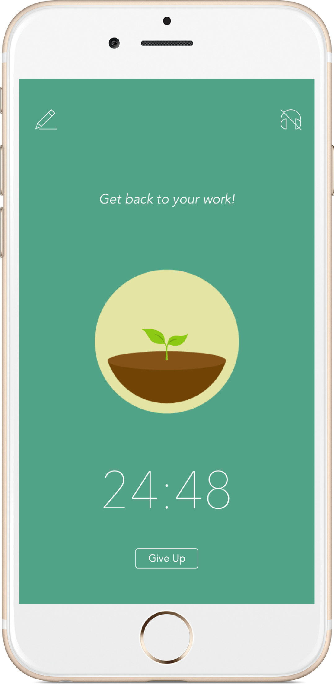 forest app on iphone plant trees productivity green screen with seedling